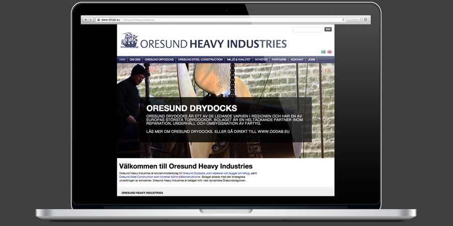 Webbstrategi, Oresund Heavy Industries, #1